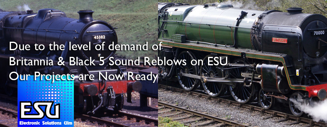Britannia Black 5 Class DCC Sound Decoder on ESU